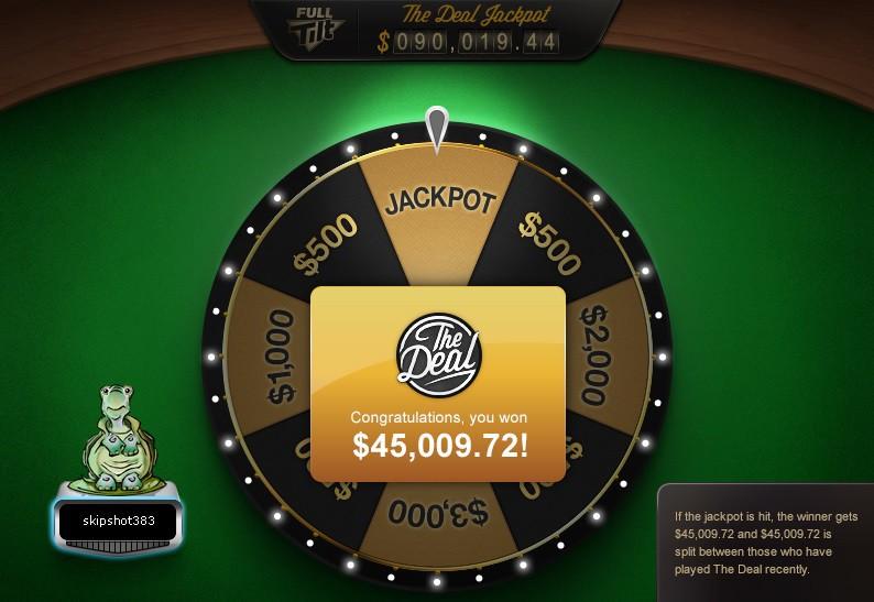 the deal jackpot full tilt