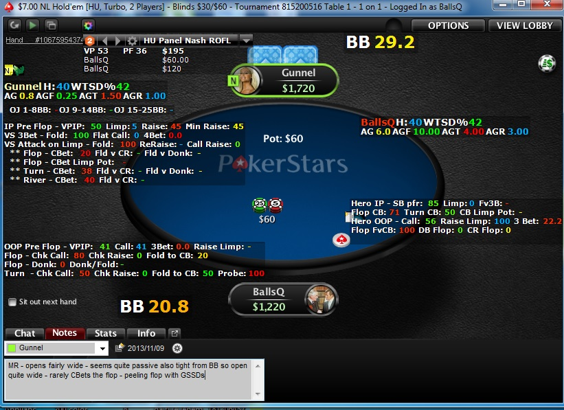 holdem manager heads up
