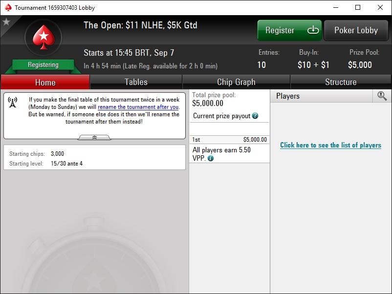 pokerstars the open