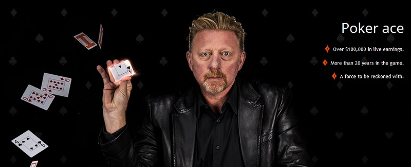 boris becker beat the ace partypoker