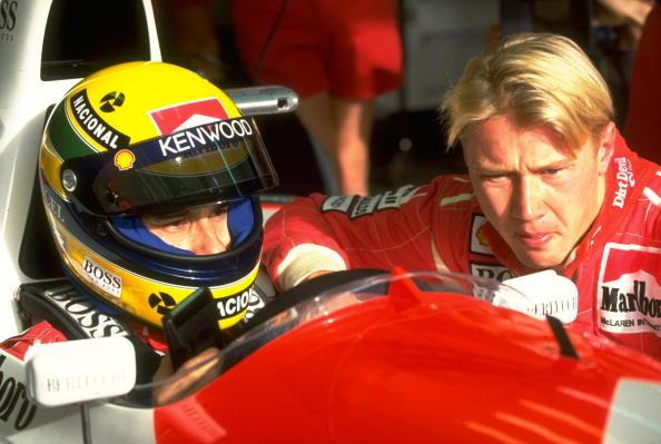 Ayrton Senna and Mika Hakkinen