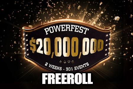 powerfest freeroll 450P