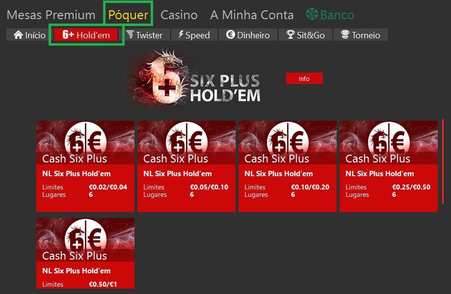 lobby six plus hold'em bet365