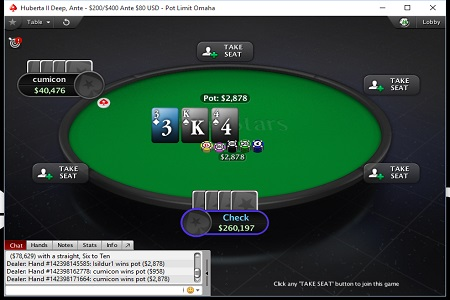 cumicon pokerstars 450
