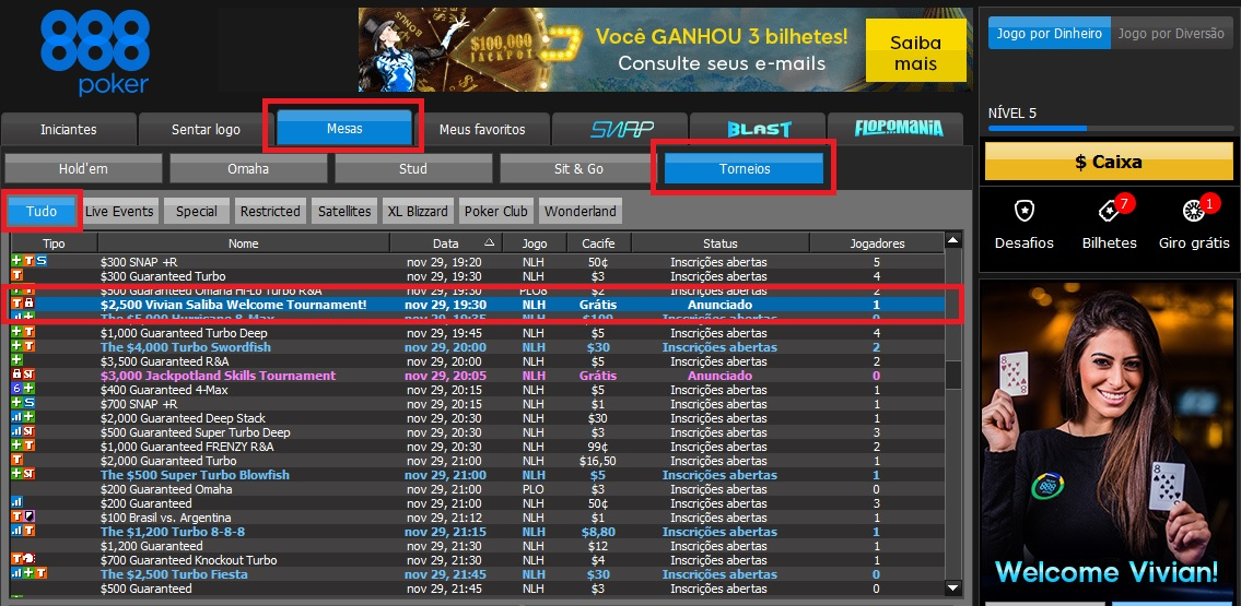 lobby 888poker freeroll vivian saliba