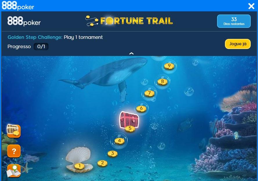 caça ao tesouro 888poker