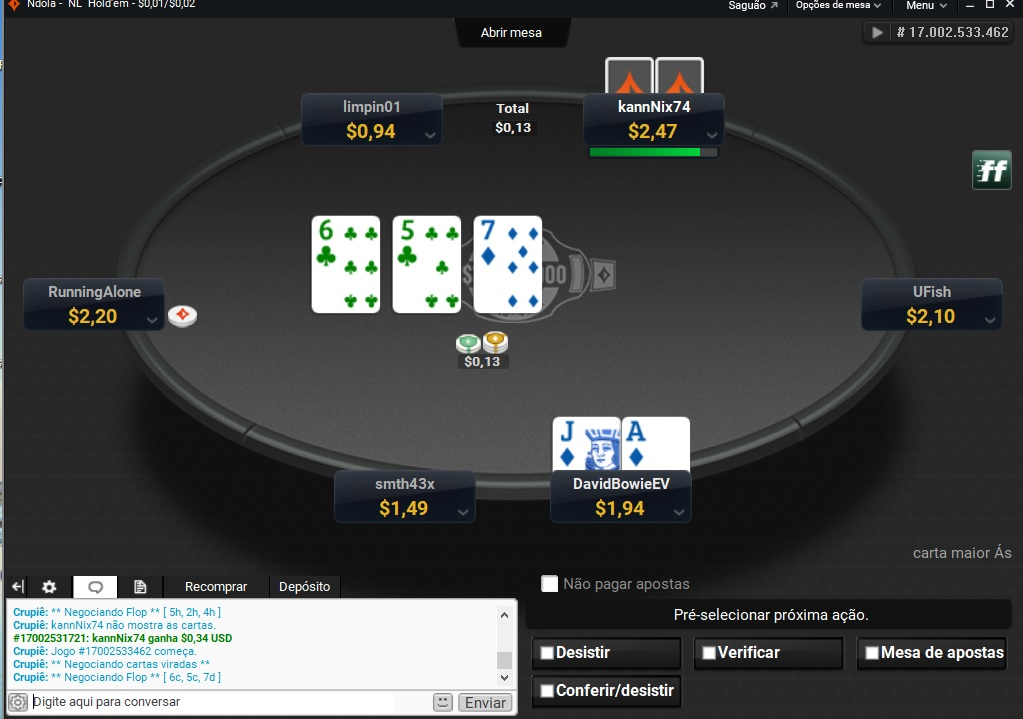 mesa oval partypoker