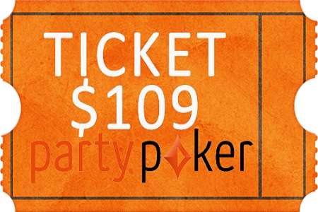 ticket partypoker 109