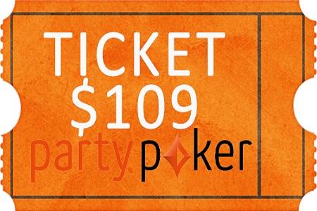 ticket partypoker 109