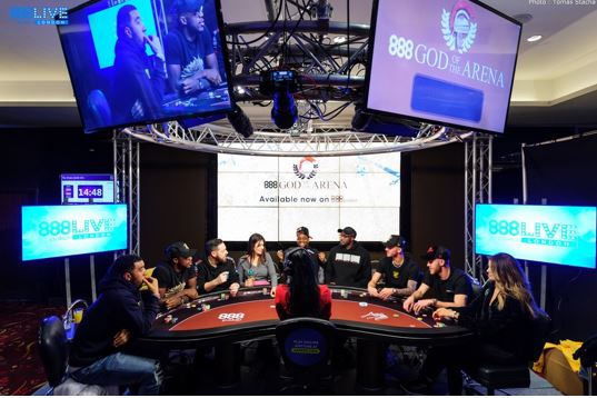 888poker live londres god of the arena
