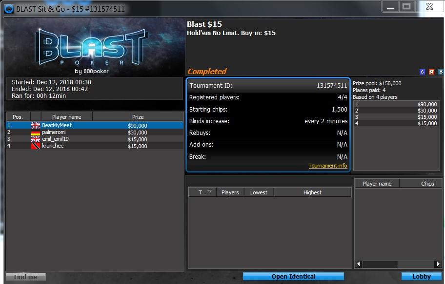 BLAST 888POKER 12 12