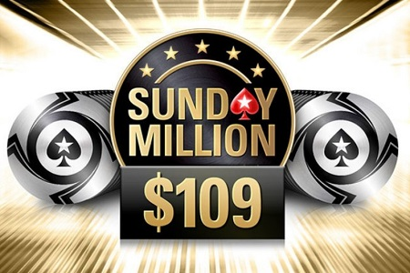 sunday million 109 pokerstars 450