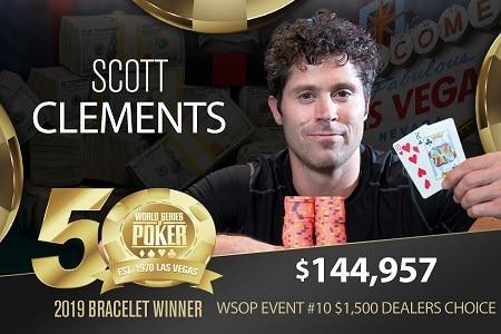 scott clements wsop bracelete 450