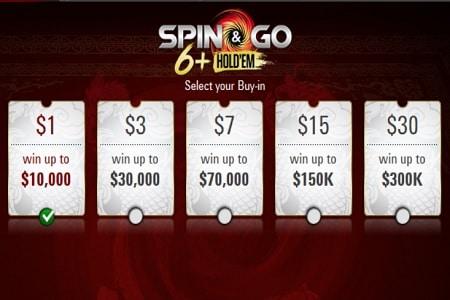 spin go 6 plus short deck pokerstars 450