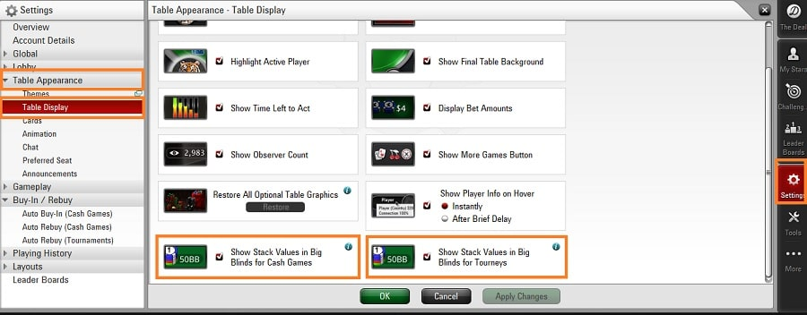 stacks big blind pokerstars