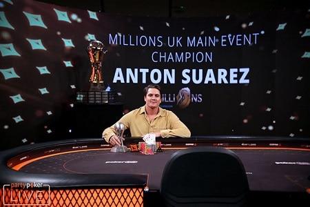 Anton Suarez partypoker MILLIONS Reino Unido