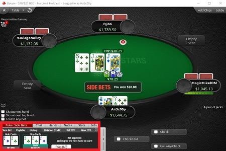 pokerstars side bets 450