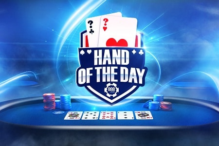 hand of the day 888poker 450