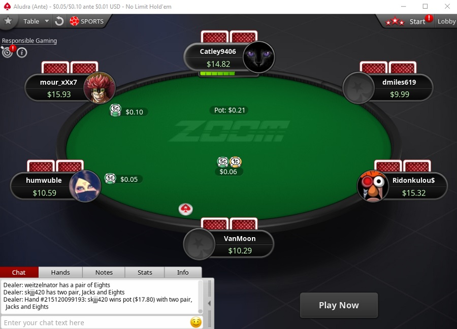 zoom ante pokerstars NL10