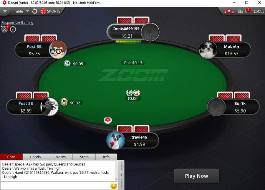 zoom ante pokerstars NL5